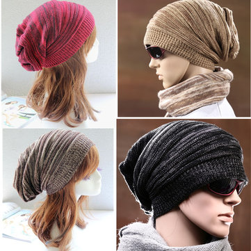 Unisex Crochet Knitted Beanie Hat Knitting Elastic Stretchable Outdoor Warm SKiing Cap