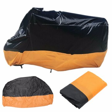 Motorcycle Waterproof Cover Scooter Rain Dust Cover Orange Black M-XL