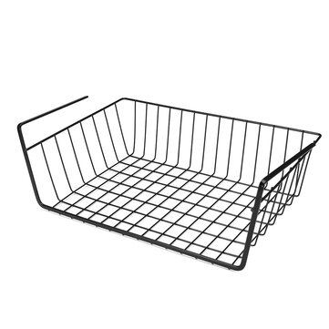 Under Hanging Shelf Wire Storage Baskets Kitchen Pantry Desk Cabinet Cupboard Rack Organizer