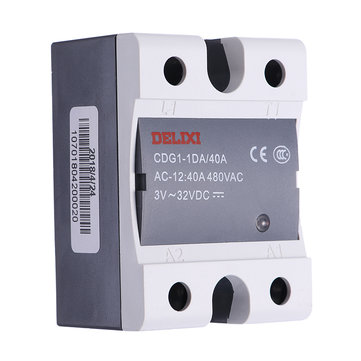 DELIXI SSR 40A 480V AC Solid State Relay Input 3V~32VDC to AC Relay