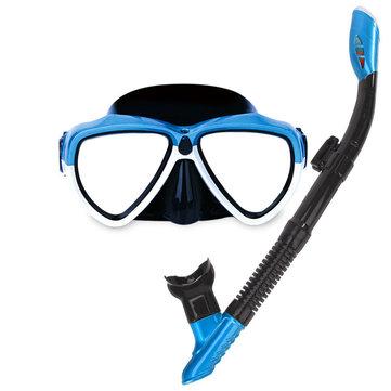 IPRee Summer Duiken Goggles met beademingsbuis Silicone vol droge duiken zwemmen snorkelen Mask