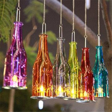 Beer Bottle Hanging Glass Candle Stick Candle Holder Candle Light Candelabra Romantic Wedding Decor