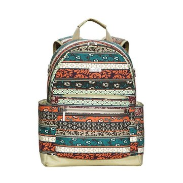Canvas Multifunction Large Capacity Vintage Floral Diaper Bag Backpack Laptop Bag For Mom