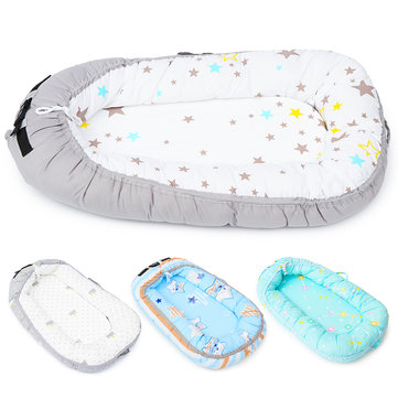 Cotton Folding Bed Baby Nest Portable Toddler Sleeper Cover Crib Cot Bumper Bed