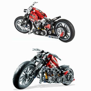 Decool 3354 Exploiture Speed Racing Motorcycle Building Blocks Toys Model 374pcs Bricks