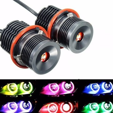Pair 20W Wi-Fi RGB LED Angel Eyes Halo Light For BMW E39 E60 E63