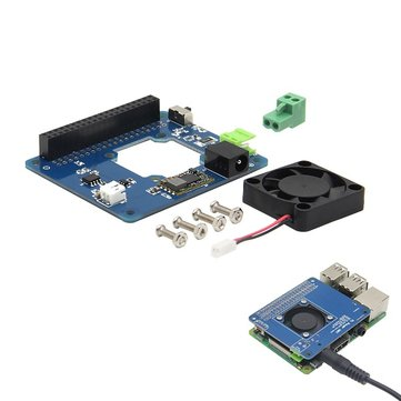 Programmable Smart Temperature Control Fan and Power Expansion Board For Raspberry Pi