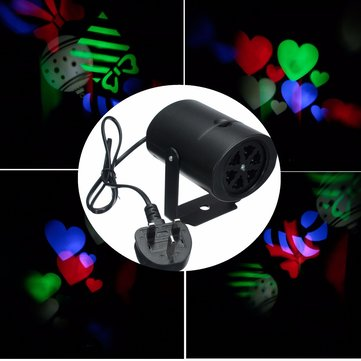 4RGB 3W สองรูปแบบ LED โลโก้เลเซอร์ เครื่องฉาย เวทีแสงสำหรับงานเลี้ยงวันเกิด Disco บาร์ปาร์ตี้คลับ