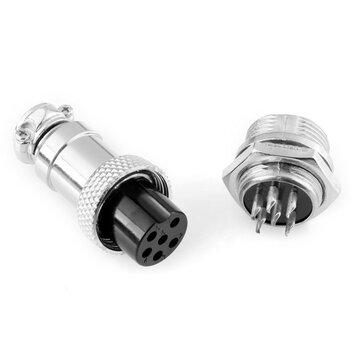 GX16-6 16 мм 6 контактный мужчина и женщина Провод панель Коннектор авиация Коннектор Разъем штекер