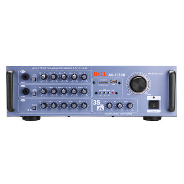 BGL AV-6080B 150W+150W Amplifier Support 2 Microphone Memory Card USB
