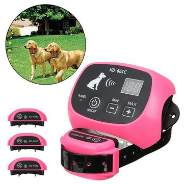 Wireless Pet Electronic Dog Yard Portable Wireless Dog Fence Rechargeable Waterproof Training Collar