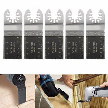 5pcs 35mm lames bi-métal pour dewalt stanley noir et decker multitool oscillant