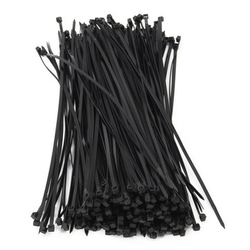 250pcs 5mm Black Nylon Self Lock Cable Ties Set 250/300/350/400/500mm Wire Zip Ties Kit
