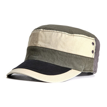 Fashion Mens Cotton Summer Breathable Baseball Hat Casual Sunscreen Flat Top Hat