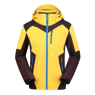 Mens Splicing Color Windproof Waterproof Soft Shell Sport Outdoor Jacket