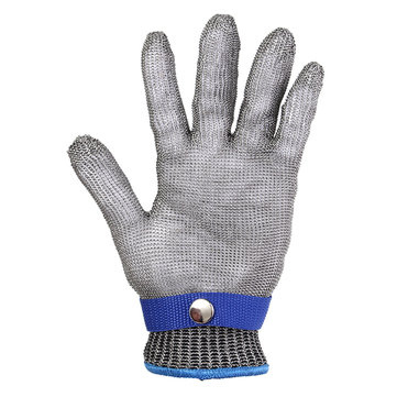 Metal Mesh Butcher Glove Grade 5 Safety Cut Proof Stab Resistant Stainless Steel 23x9.5cm