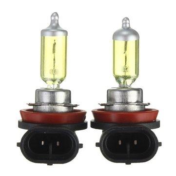 A Pair of H16 HID Xenon Light Bulbs Lamps DC12V Yellow 3000K-3500K