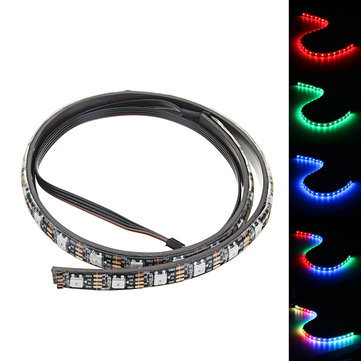 Coolman 50cm Magnetic RGB LED Strip Light with 30pcs LED for Desktop PC Computer Case