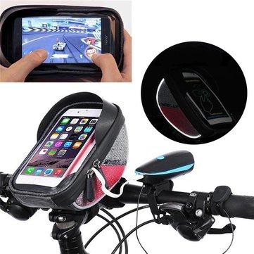 Wheelup Outdoor Dokunmatik Ekran Su Geçirmez Yansıtıcı Kenar Bisiklet Gidon Koruyucu Depolama Çanta