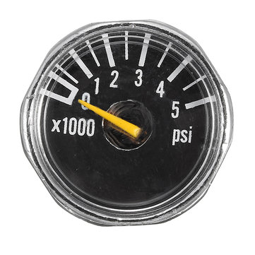 Micro Gauge 1 inch 25mm 0 to 5000psi High Pressure for HPA Paintball Tank CO2 PCP