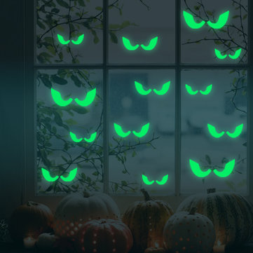 Honana DX-166 18PCS Halloween Fluorescent Glow Furtive Eyes Wall Sticker Home Bedroom Decor