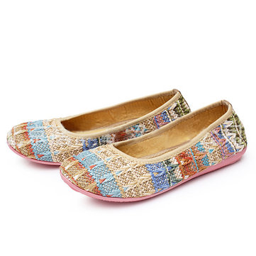 Women Knitting Shoes Casual Soft Outdoor Flat Loafers