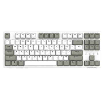 Original DURGOD K320 White Gray Cherry MX Switch PBT Keycaps Mechanical Gaming Keyboard