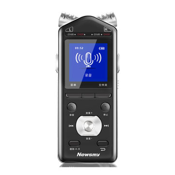 Newsmy PD61 16GB 1.47 Inch TFT Color Screen Dual 360 Degree Microphone PCM 1536KBPS Voice Recorder