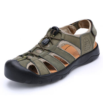 Men Comfy Anti Collision Toe Hook Loop Sandals