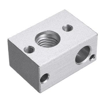 MK10 Aluminum Alloy PT100 Heating Block For 3D Printer