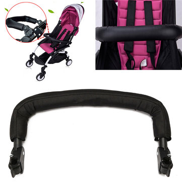 IPRee® Black Generic Adjustable Handlebar Arm Rest Bumper Bar For Baby Stroller