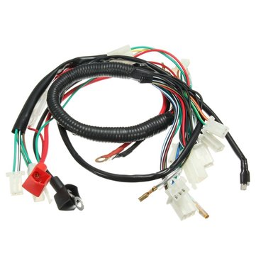 Wiring Harness Loom For Chinese Electric Start Quads 50cc 70cc 90cc on wire strap, wire bushing, wire tape,