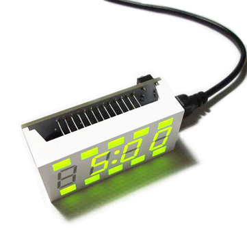 Geekcreit® DIY C51 Mini Creative Simple White Desktop Electronic Clock Kit