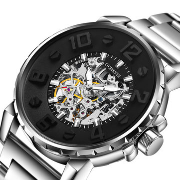 OCHSTIN 62004B 3D Dial Case Design Automatic Mechanical Watches Skeleton Stainless Men Watch