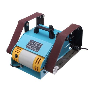 950W 220V Multi-function Sander Desktop Double Axis Belt Sanding Grinding Machine