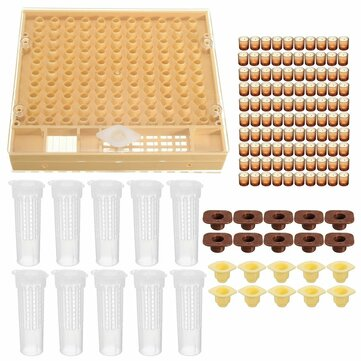 Queen Rearing System Bee Catcher Cage Beekeeping 110 Cell Cups Tool Set Beekeeping Tools Set