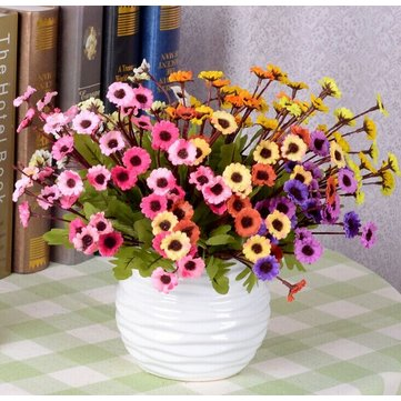7 Colors Artificial Sunflowers Silk Daisy Simulation Flower Bouquet Home Decor