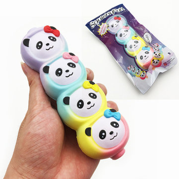 Squishy Fun Rainbow Panda Candy Stick Squishy 15cm Slow Rising With Packaging Collection Gift Toy