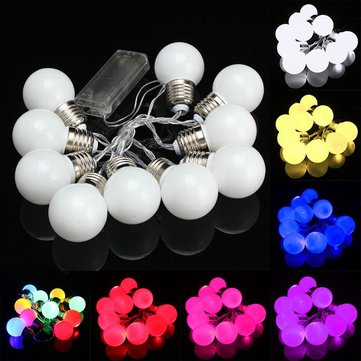10 LED Battery Mini Festoon Fairy String Light Bulb Christmas Wedding Garden Lamp