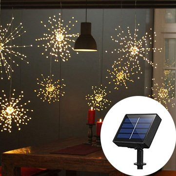 Solar Powered 120LED 8 Modes IP65 DIY Firework Starburst Fairy String Christmas Wedding Light DC2V