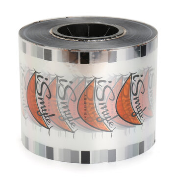 Clear Cup Seal Film Roll Smiling Pattern 2500 Cups 95mm for Cup Seal Ring Machine Bubble Milk Tea