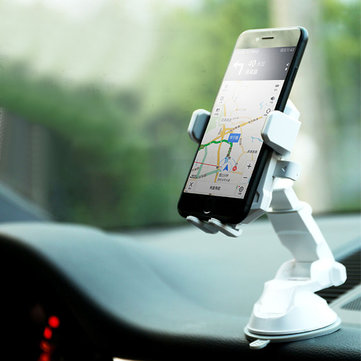 REMAX RM-C26 Car Dashboard Front Glass Desktop Suction Cup Phone Holder for Phone Under 6 inches