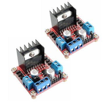 2Pcs Geekcreit® L298N Dual H Bridge Stepper Motor Driver Board For Arduino