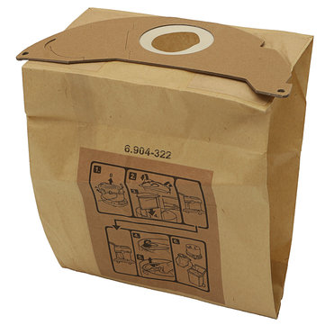 Vacuum Cleaner Hoover Dust Bags Kraft Paper Replacement Bags for Karcher WD2200 WD2240
