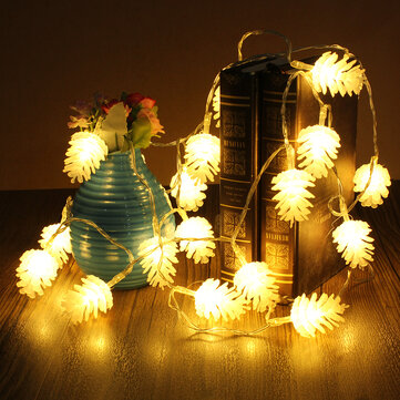 2.2m 20 LED Pine Cone String Light Lamp Christmas Wedding Party Decoration