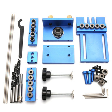 Aluminum Alloy Jig Dowelling Jig Set Wood Dowel Drilling Position Jig Wood Working Tool