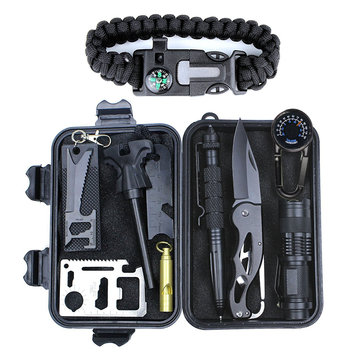 Outdoor Sports SOS Emergency Survival Tools Kit For Tactical Hunting Tool With Self-Help Box