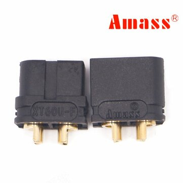 Amass XT60U 3.5mm Banana Plug Connector Black Male & Female 1 Pair