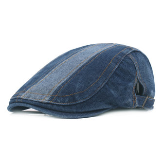Fashion Mens Washed Denim Beret Cap Casual Newsboy Outdoor Flat Caps