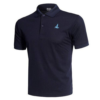 Mens Casual Solid Color Embroidery Quick Drying Breathable Short Sleeve T-shirt POLO Shirt